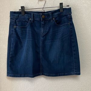 EUC LOFT dark blue mini jean skirt, 6